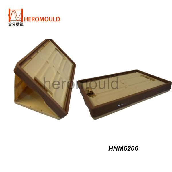 HNM6206 plastic foldable crate mould